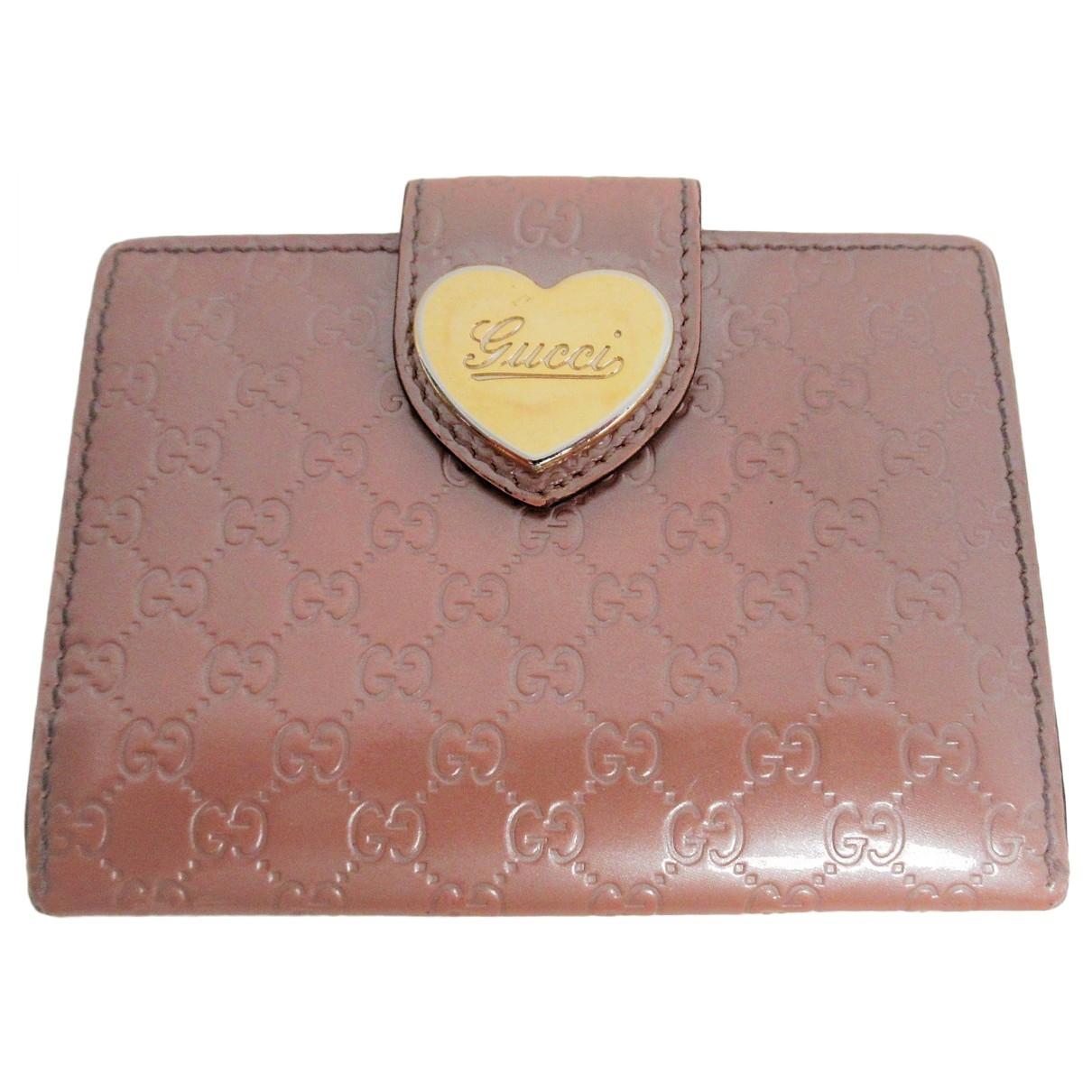 Gucci - Portefeuille   pour femme en cuir verni - rose