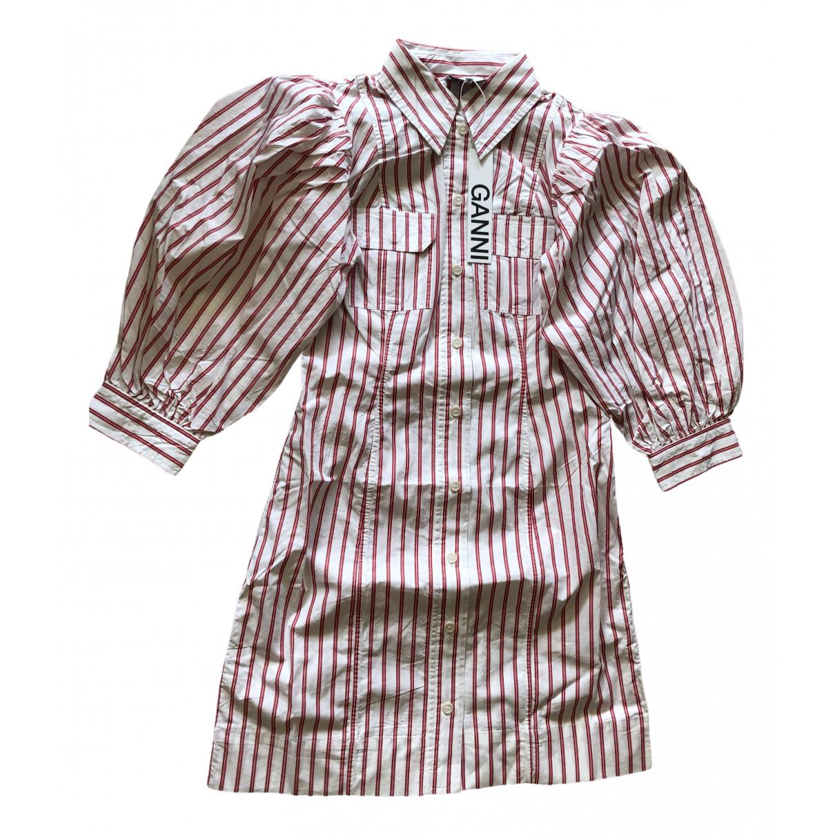 Ganni - Robe Spring Summer 2020 pour femme en coton - blanc