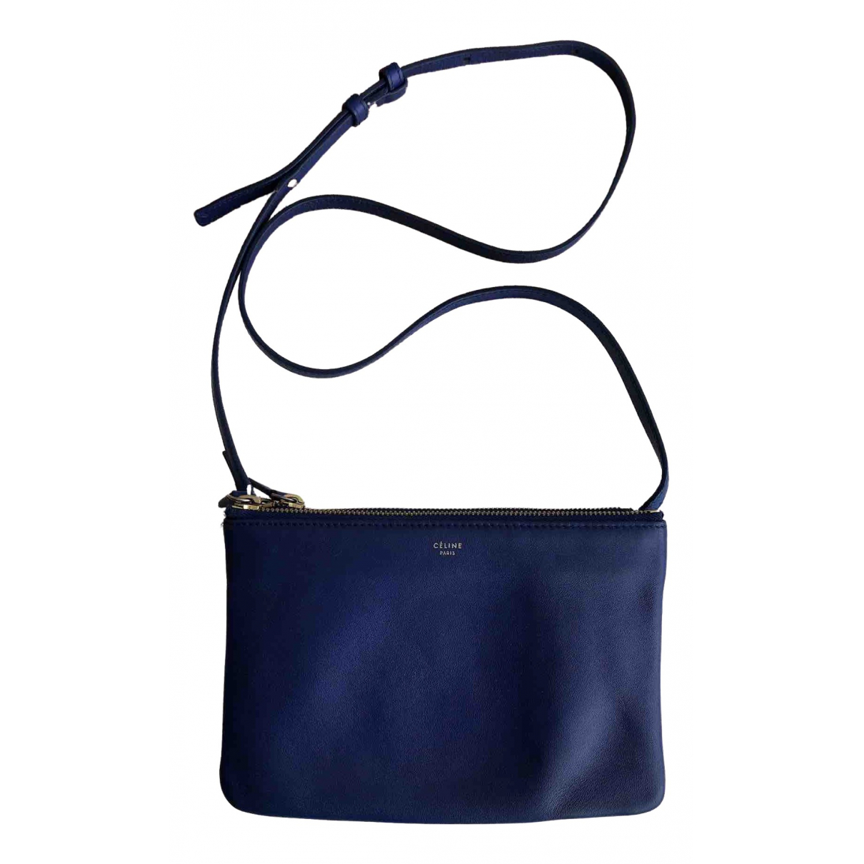 Celine Trio Blue Leather handbag for Women \N
