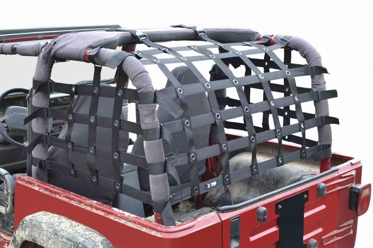 Steinjager J0046110 Cargo Net Wrangler TJ 1997-2006 Premium Black