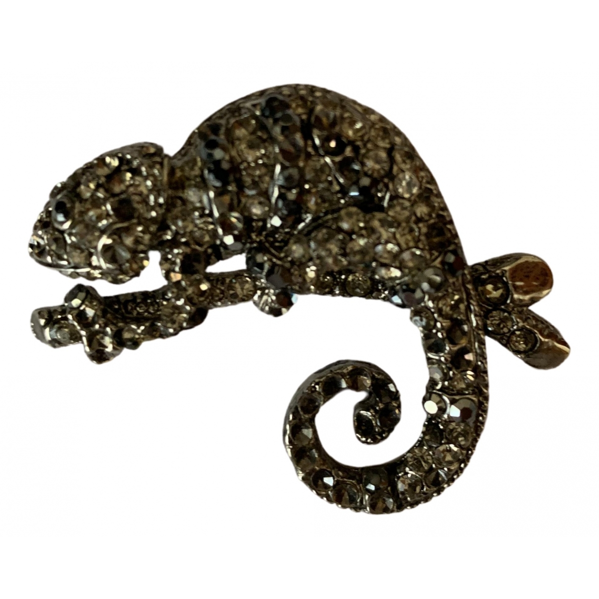 Non Signé / Unsigned Motifs Animaliers Silver Metal Pins & brooches for Women \N