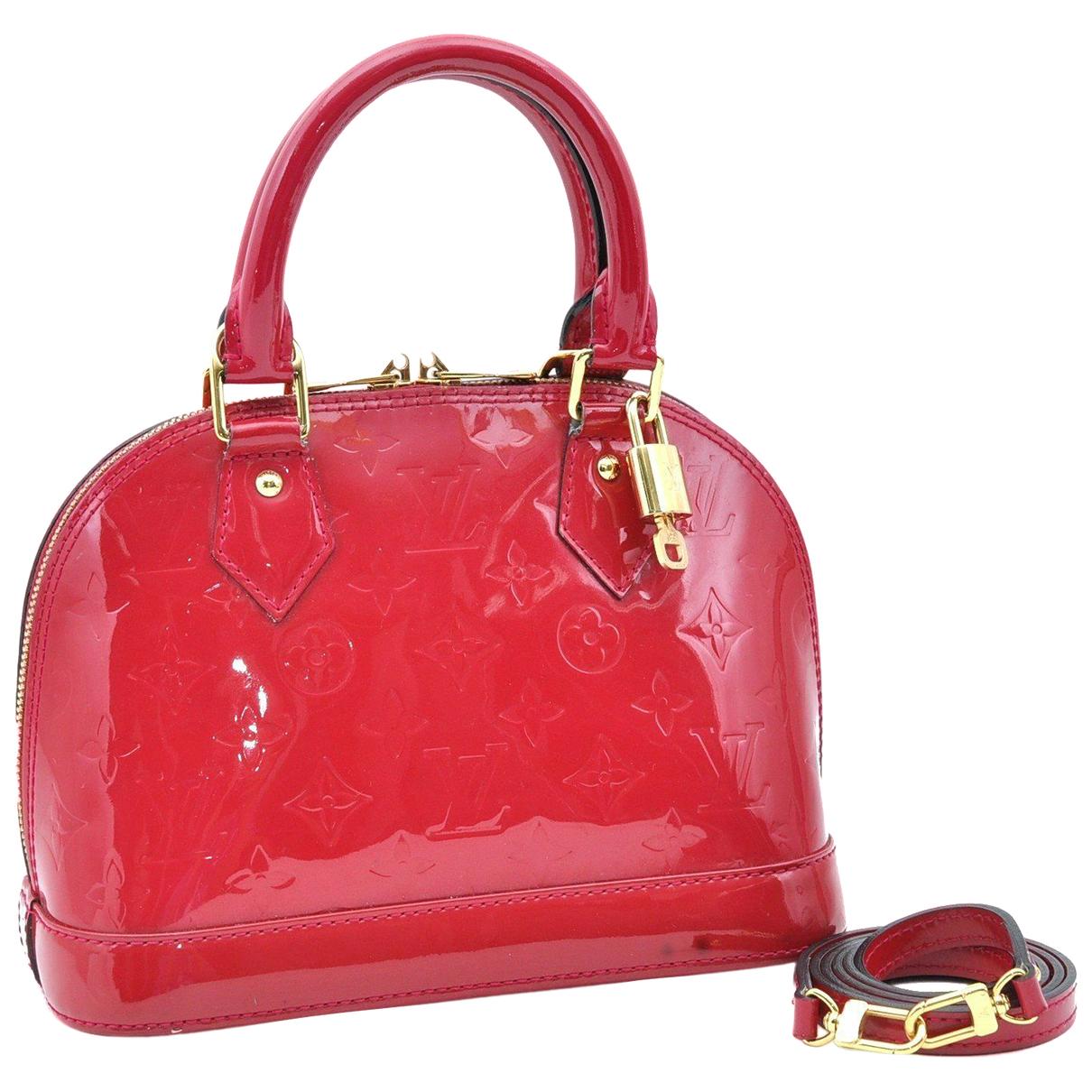 Louis Vuitton Alma BB Red Patent leather handbag for Women N