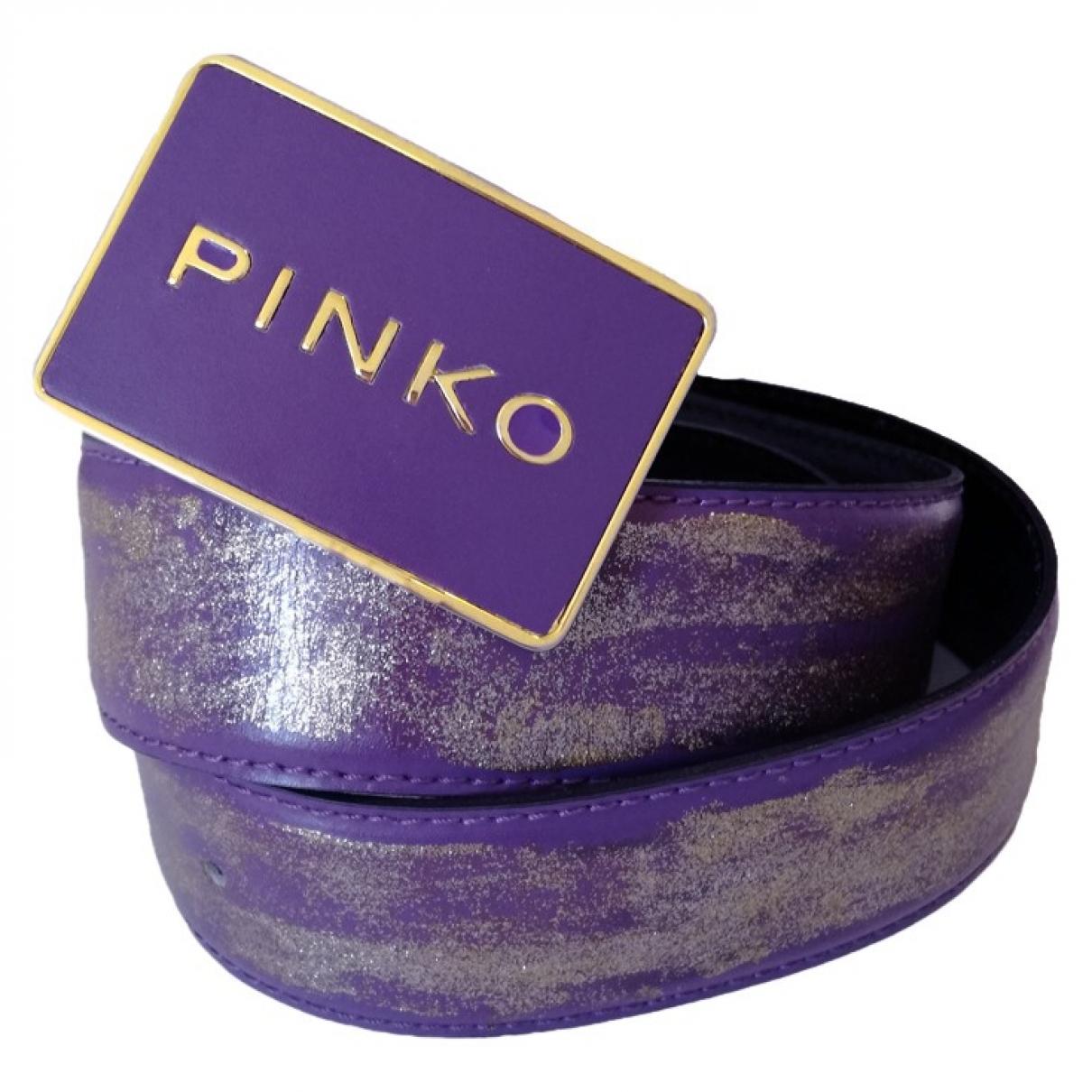 Pinko \N Guertel in  Lila Leder