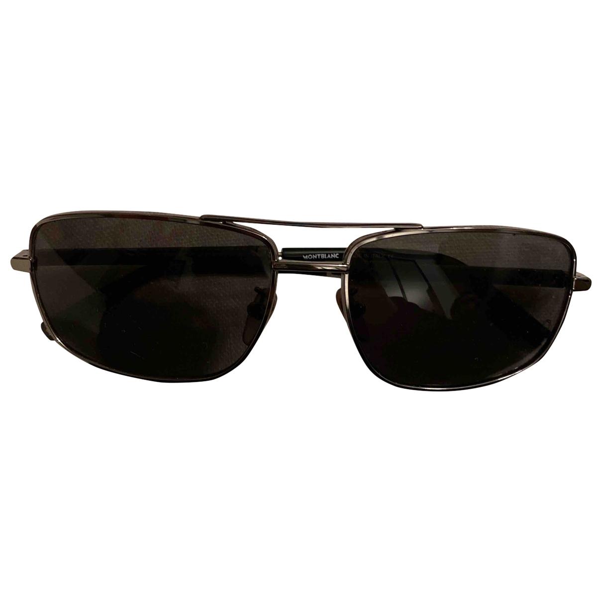 Montblanc \N Black Metal Sunglasses for Men \N