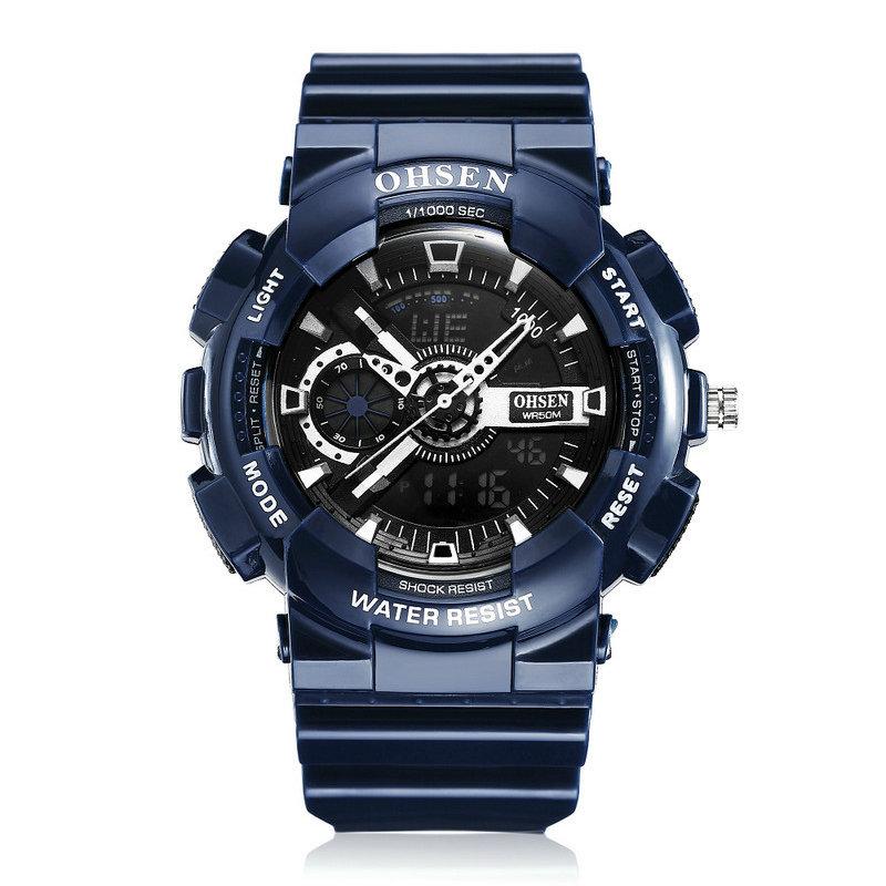 Sport Luminous Men Watches Dual Display Digital Watch Stopwatch Alarm Waterproof Watch