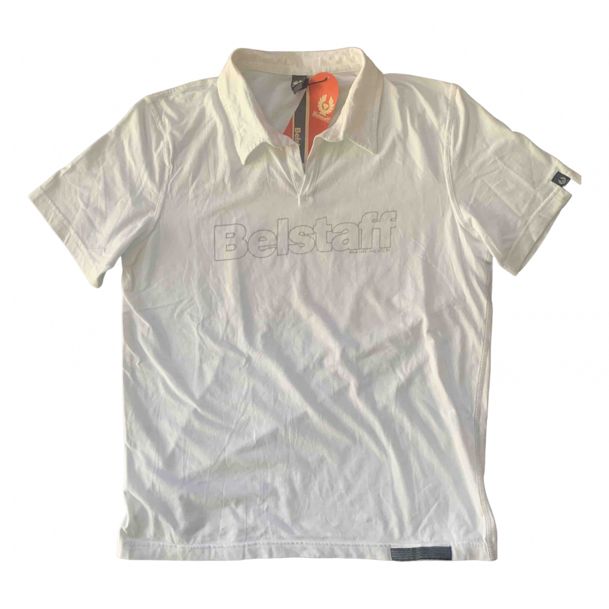 Belstaff - Polos   pour homme en coton - blanc