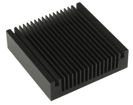 Thermo Electric Devices Heatsink, Universal Square Alu, 2K/W, 60 x 60 x 16mm, Black