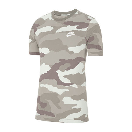 Nike Mens Camo Crew Neck Short Sleeve Moisture Wicking T-Shirt, X-large , White