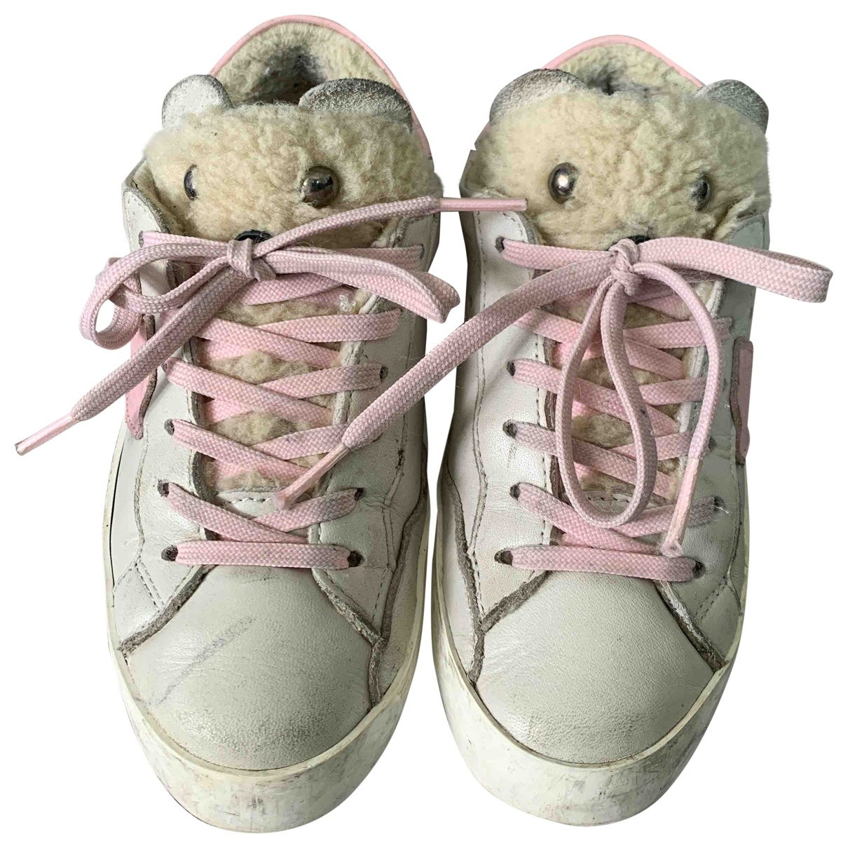 Philippe Model \N White Leather First shoes for Kids 28 EU