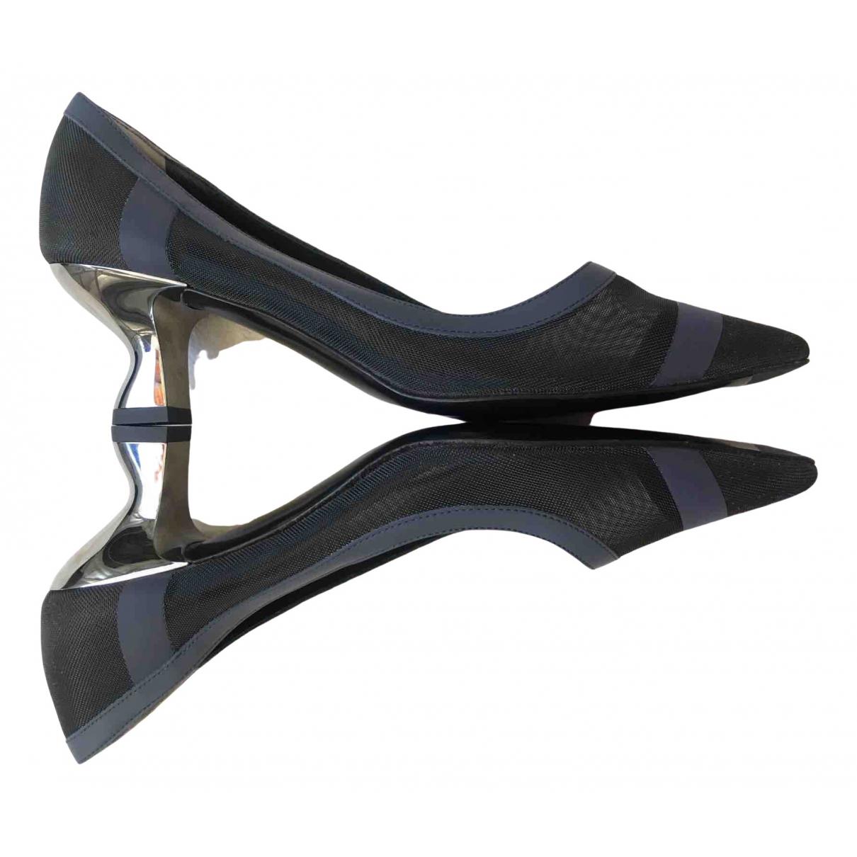 Fendi Colibri Navy Cloth Heels for Women 36.5 EU