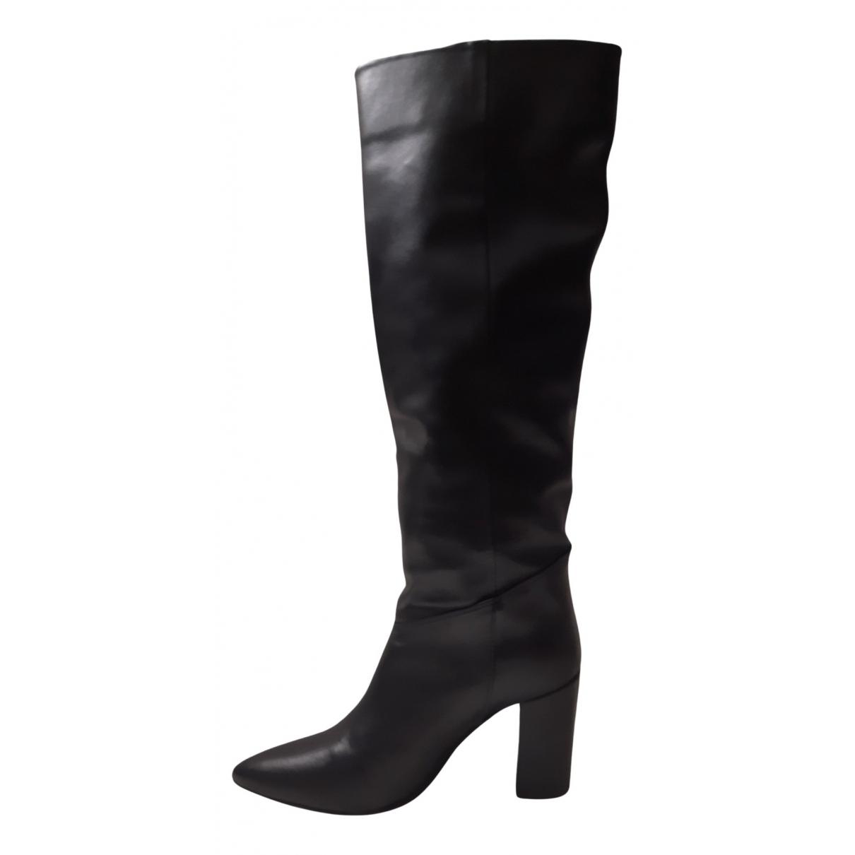 Ovye - Bottes   pour femme en cuir - noir