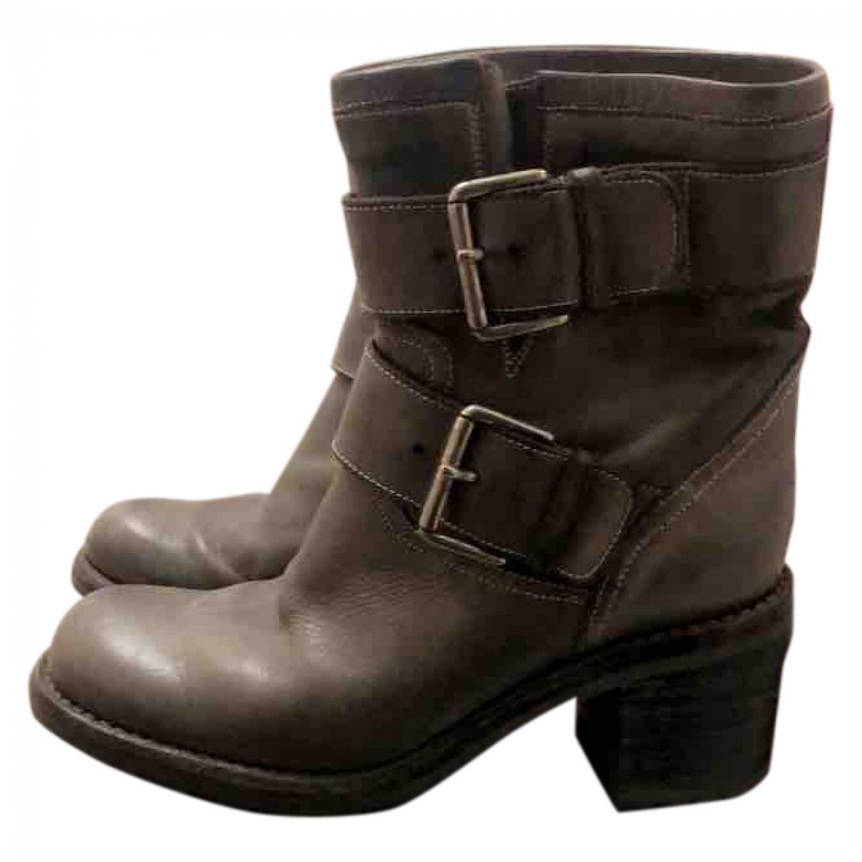 Free Lance - Boots   pour femme en cuir - gris