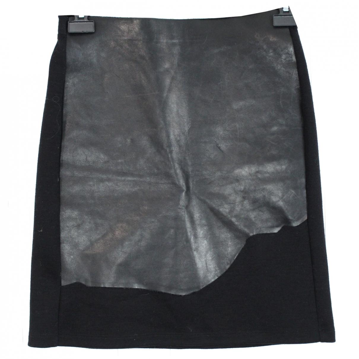 Maison Martin Margiela - Jupe   pour femme en cuir - noir