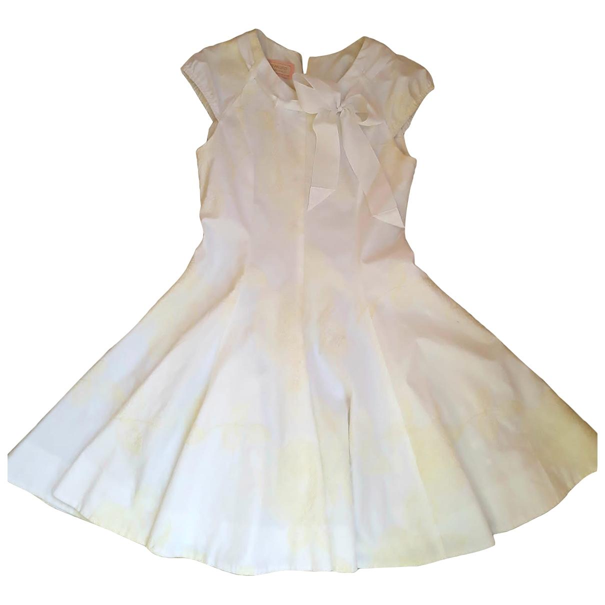I Pinco Pallino \N Kleid in  Weiss Baumwolle