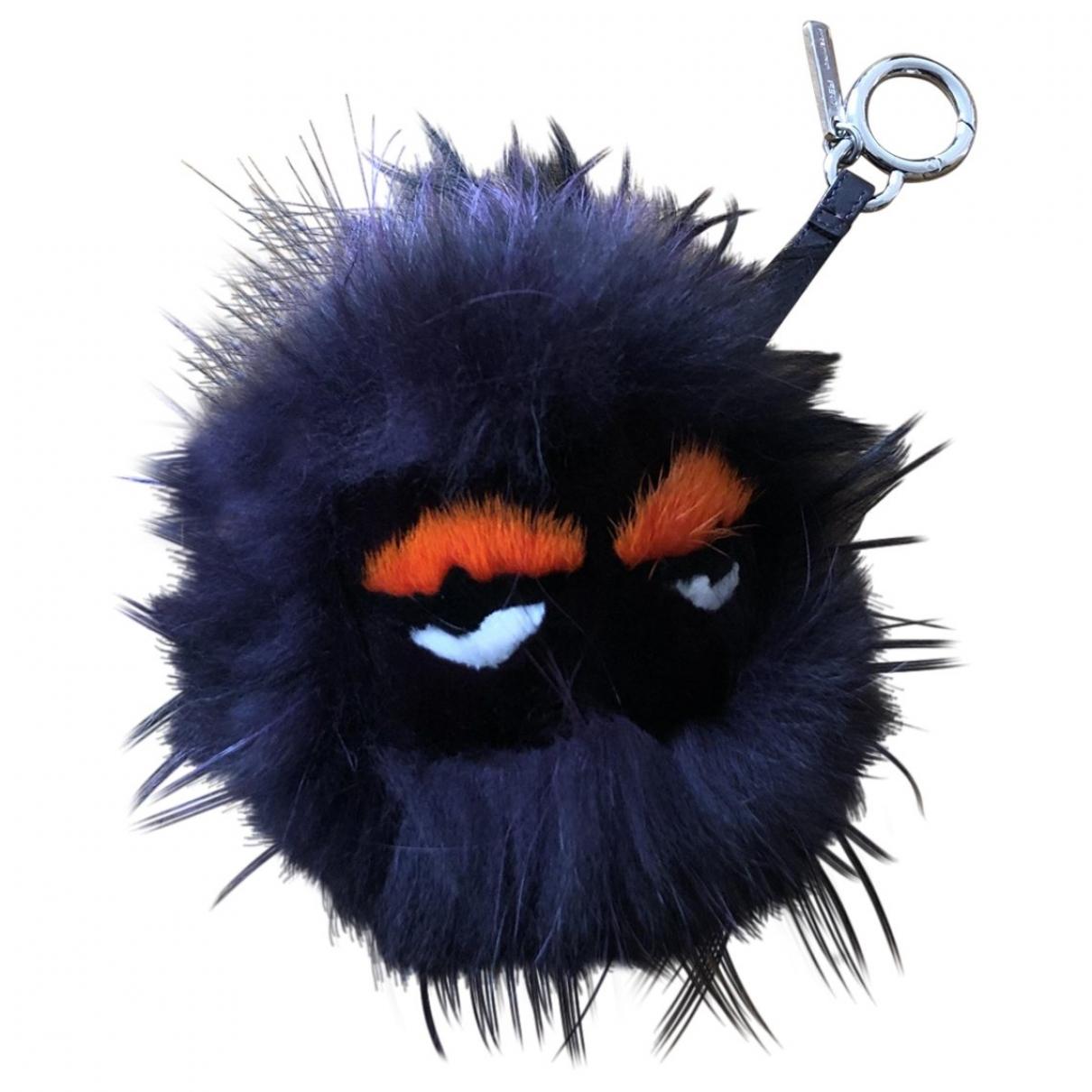 Fendi Bag Bug Black Fox Bag charms for Women \N