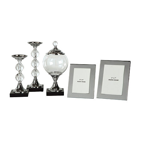 Signature Design by Ashley 5-pc. Tabletop Decor, One Size , Silver
