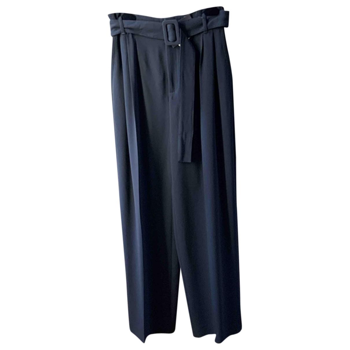 Off-white \N Black Trousers for Women 36 FR