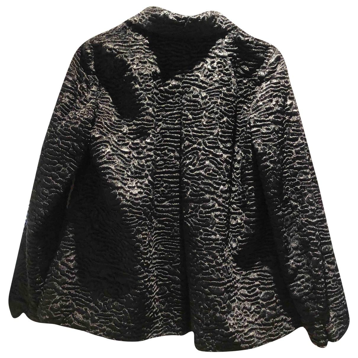 Max Mara s - Manteau   pour femme en fourrure synthetique - noir