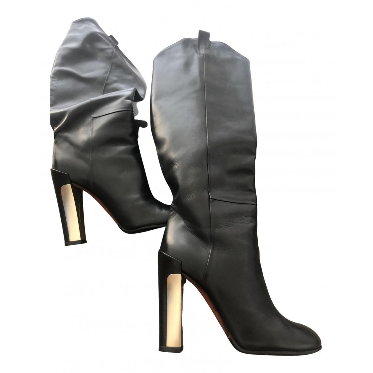 Brian Atwood \N Stiefel in  Schwarz Leder