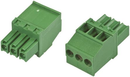 TE Connectivity Non-Fused Terminal Block, 3 Way/Pole, Screw Down Terminals, 30 → 14 AWG Cable Mount, Nylon, 300 V
