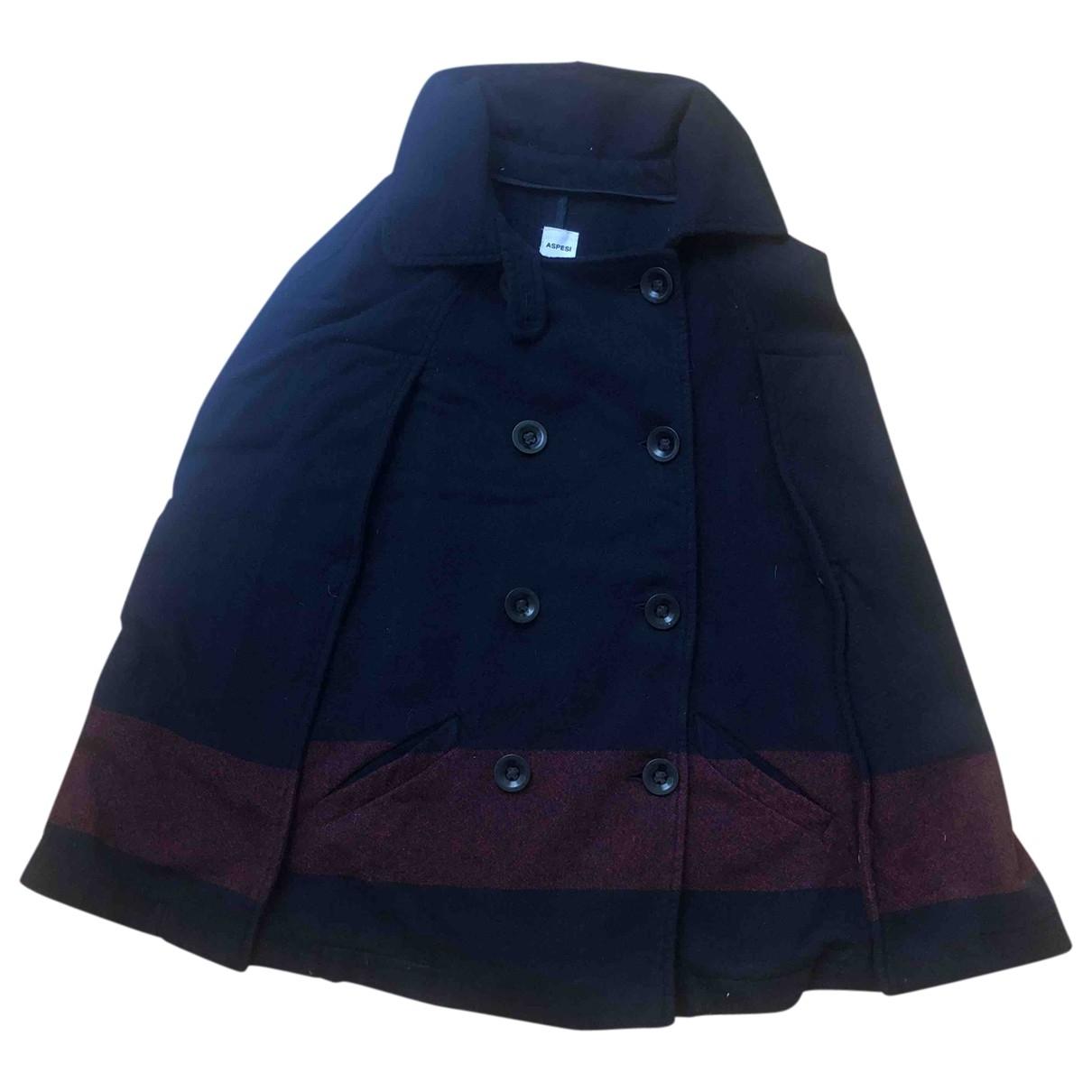 Aspesi - Veste   pour femme en laine - bleu