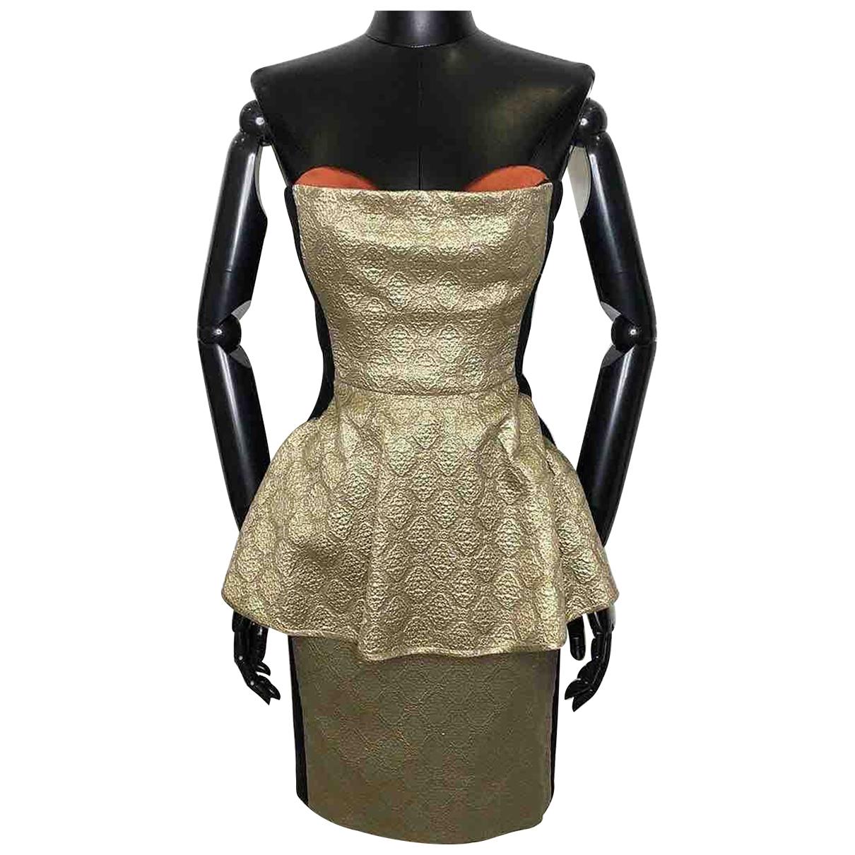Stella Mccartney \N Kleid in  Gold Seide
