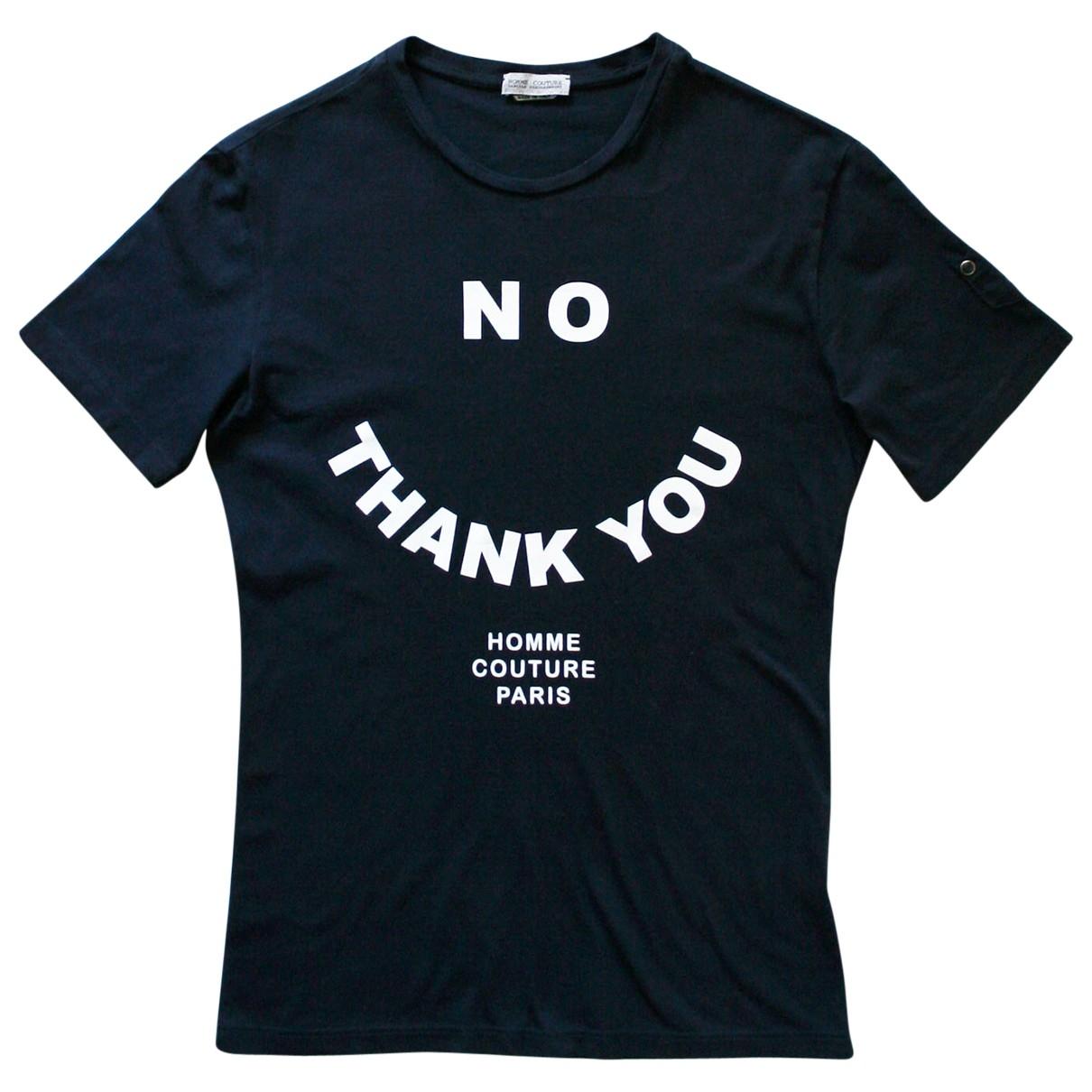 Daniele Alessandrini \N Navy Cotton T-shirts for Men S International