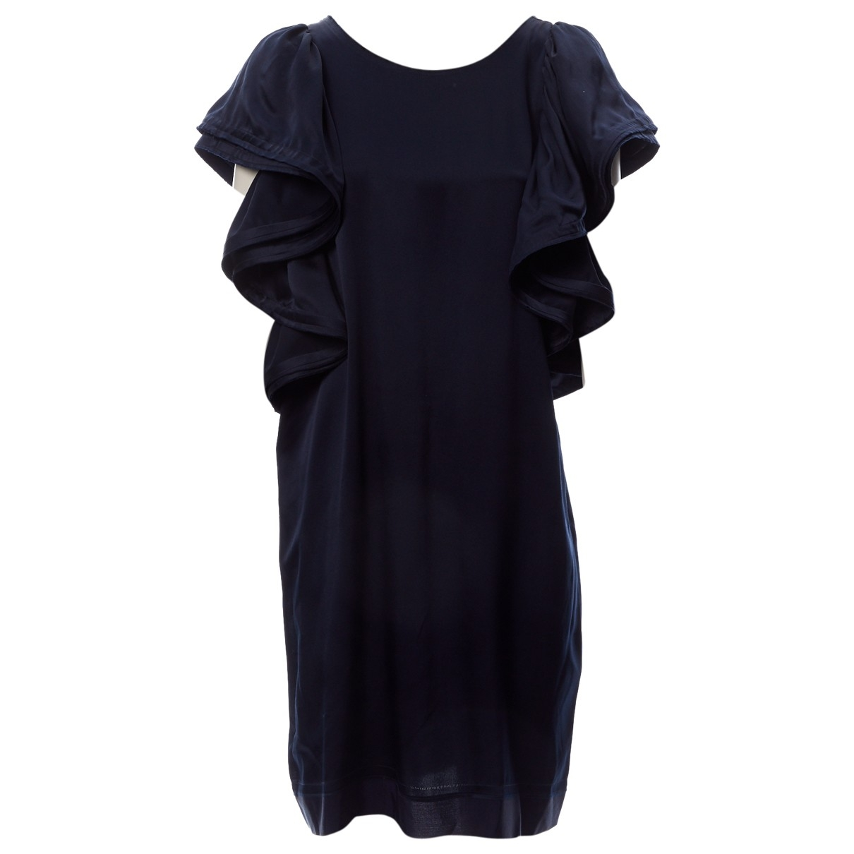 Lanvin For H&m \N Navy Silk dress for Women 40 FR