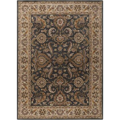 AWHY2063-69 6' x 9' Rug  in Denim and Tan and Khaki and Olive and Dark Red and