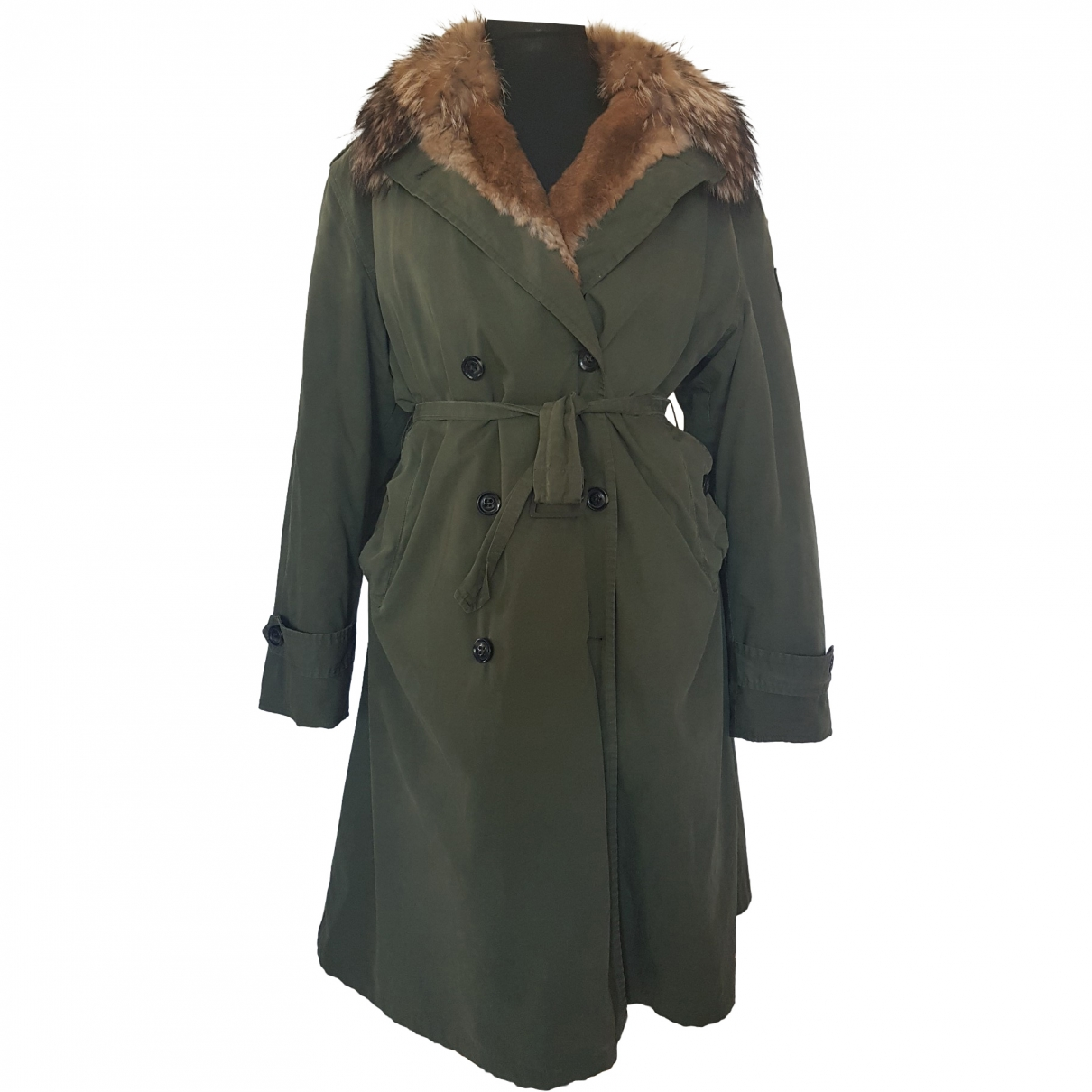 Barbed \N Khaki Cotton coat for Women 50-52 IT