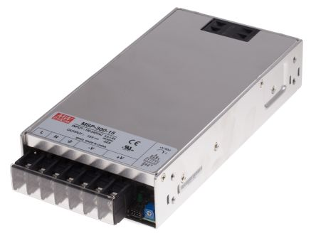 Mean Well , 330W Embedded Switch Mode Power Supply SMPS, 15V dc, Enclosed, Medical Approved