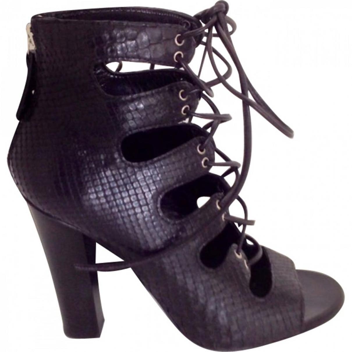 Balmain \N Black Python Ankle boots for Women 37 EU