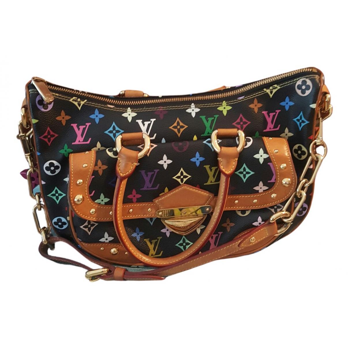 Louis Vuitton Gracie Handtasche in  Schwarz Leinen