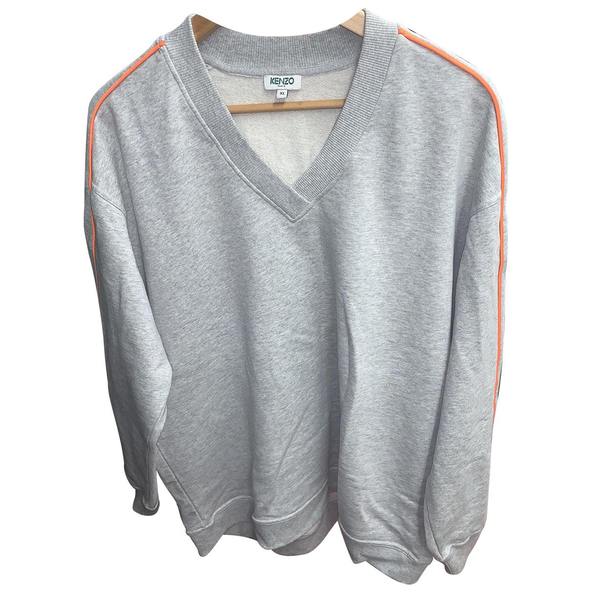 Kenzo N Grey Cotton Knitwear for Women 46 IT