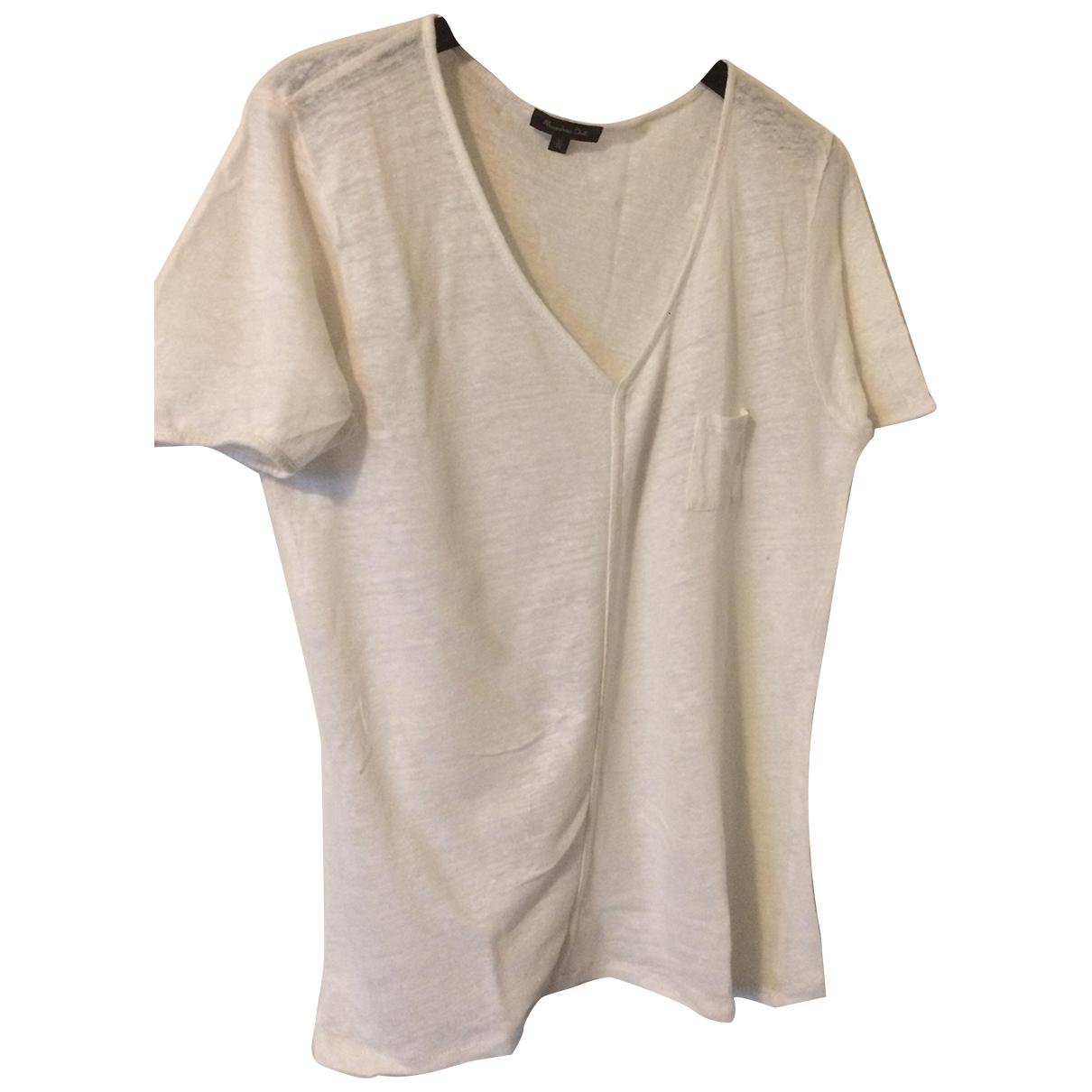 Camiseta de Lino Massimo Dutti