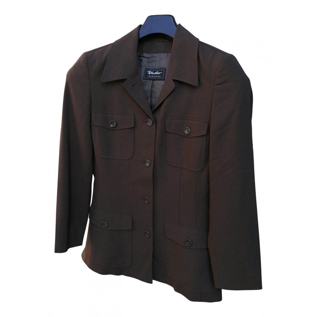 Windsor - Veste   pour femme en laine - marron