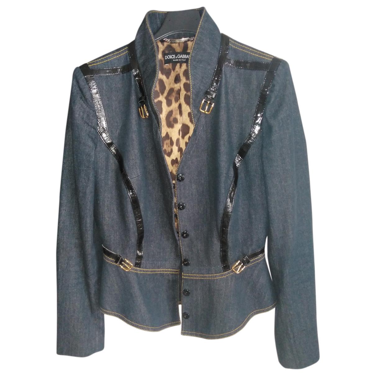 Dolce & Gabbana - Veste   pour femme en coton - bleu