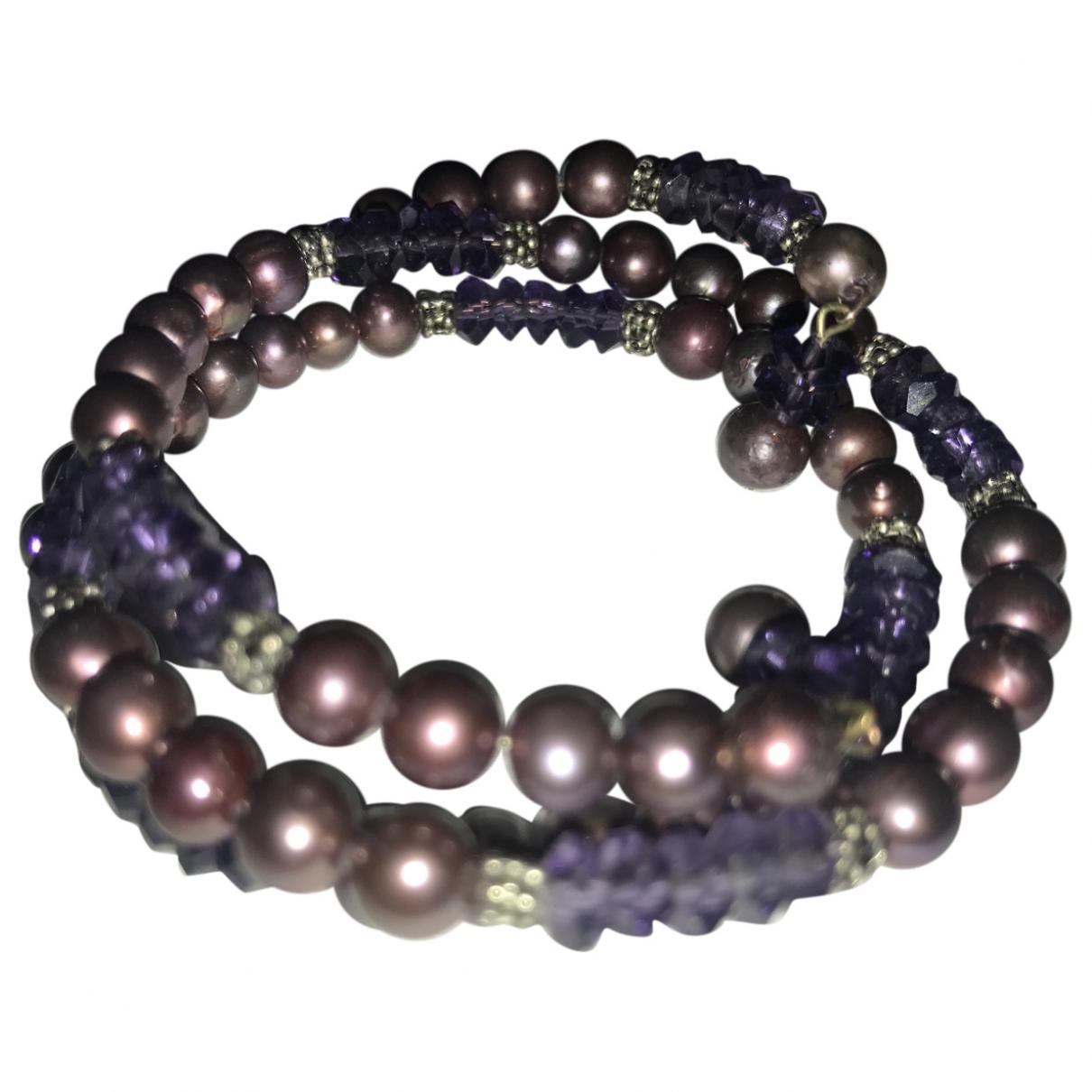 - Bracelet Amethyste pour femme en perles - violet