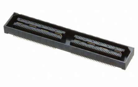 Samtec , QSH-RA 0.55mm Pitch 120 Way 2 Row Right Angle PCB Socket, Through Hole, Solder Termination (500)