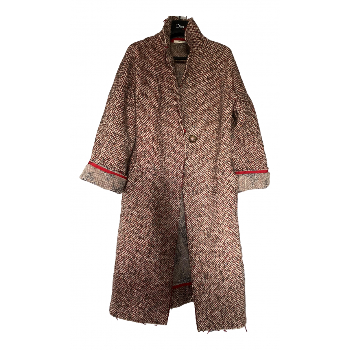 Non Signé / Unsigned \N Multicolour Wool coat for Women 40 FR