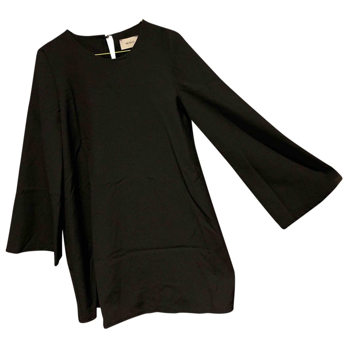 Vicolo \N Kleid in  Schwarz Polyester