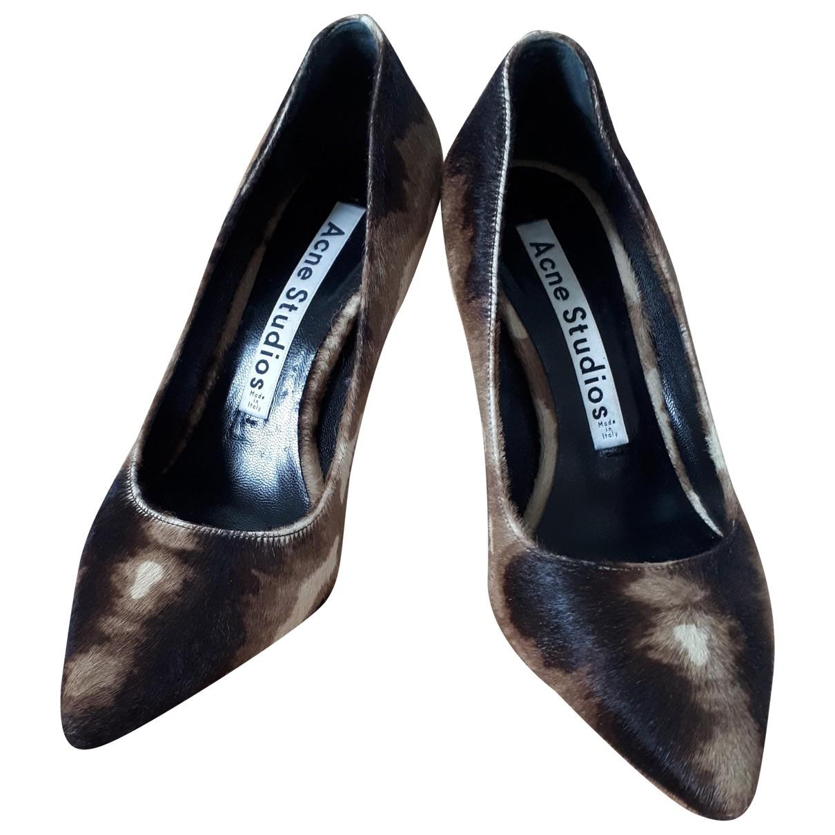Acne Studios \N Brown Pony-style calfskin Heels for Women 36 EU