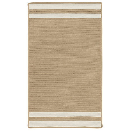 Colonial Mills Sonoma Accent Stripe Braided Rectangular Reversible Indoor/Outdoor Rugs, One Size , White