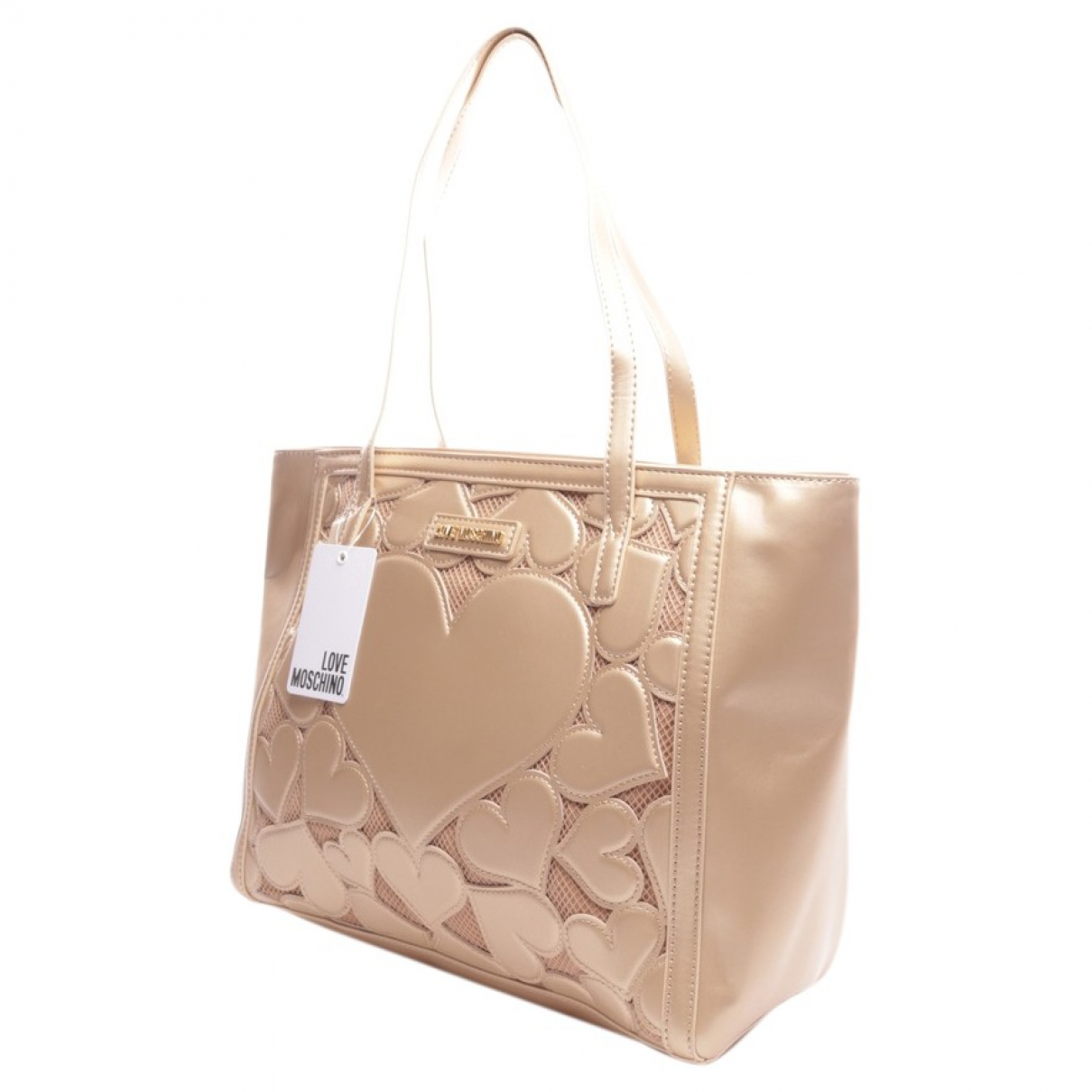 Moschino Love \N Handtasche in  Metallic Leder