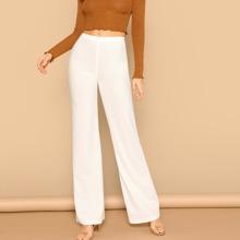 Pantalones rectos de cintura alta