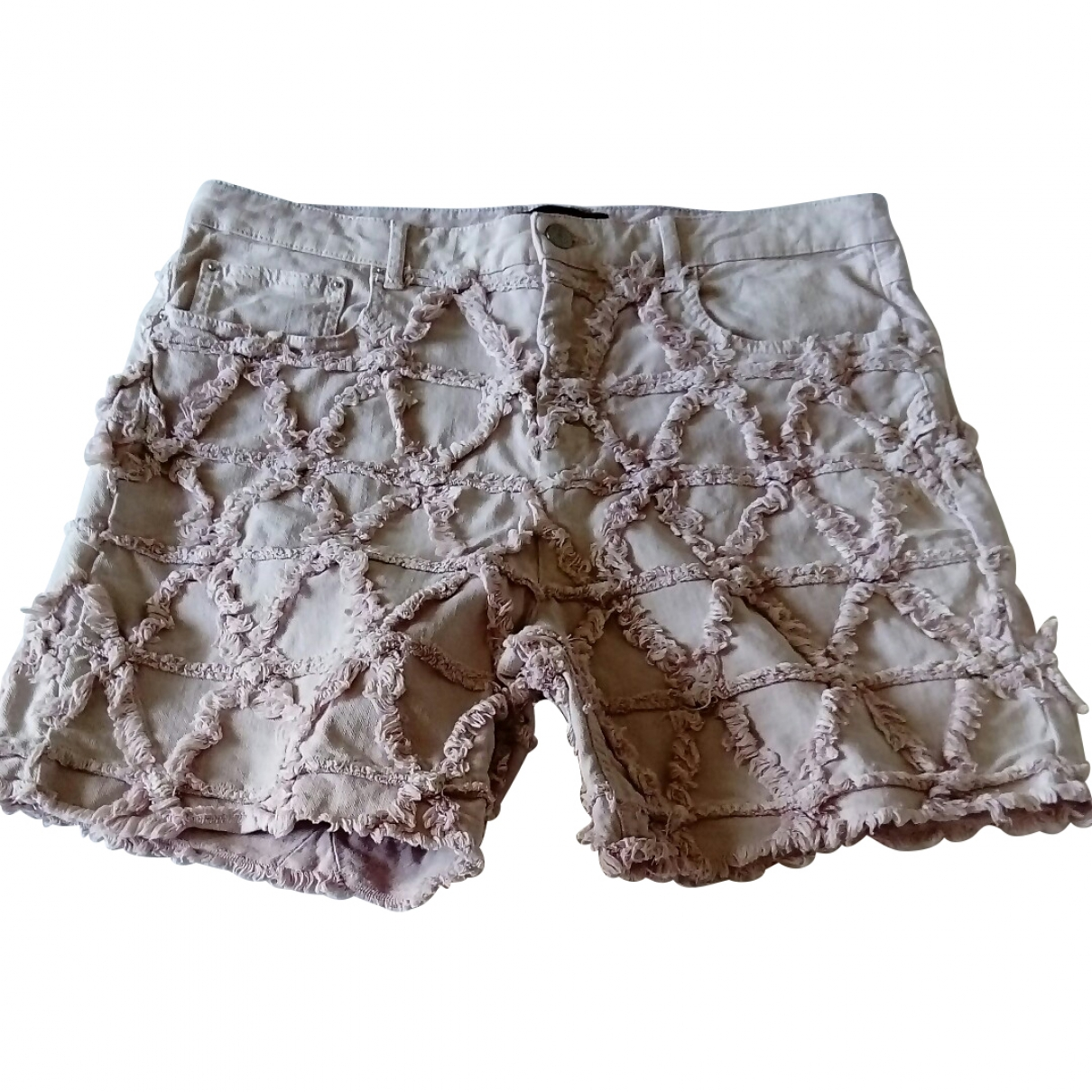 Isabel Marant \N Pink Cotton - elasthane Shorts for Women 42 FR