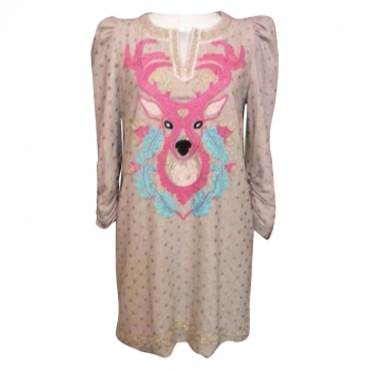 Manoush - Robe   pour femme en laine - multicolore