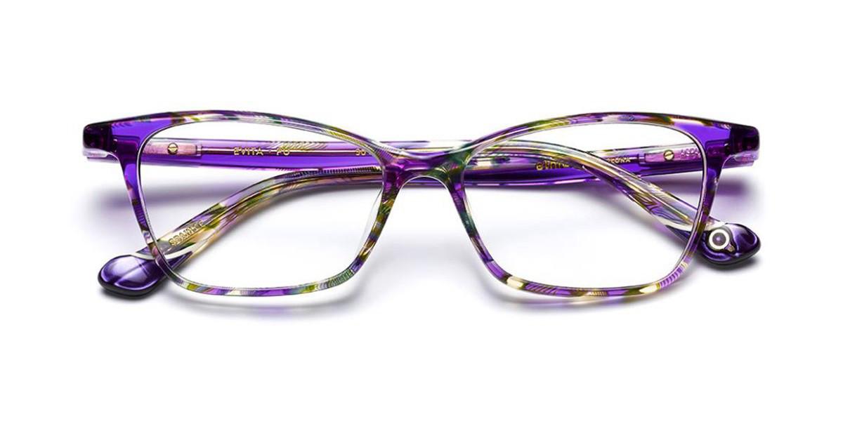 Etnia Barcelona Evita PU Women's Glasses Violet Size 50 - Free Lenses - HSA/FSA Insurance - Blue Light Block Available