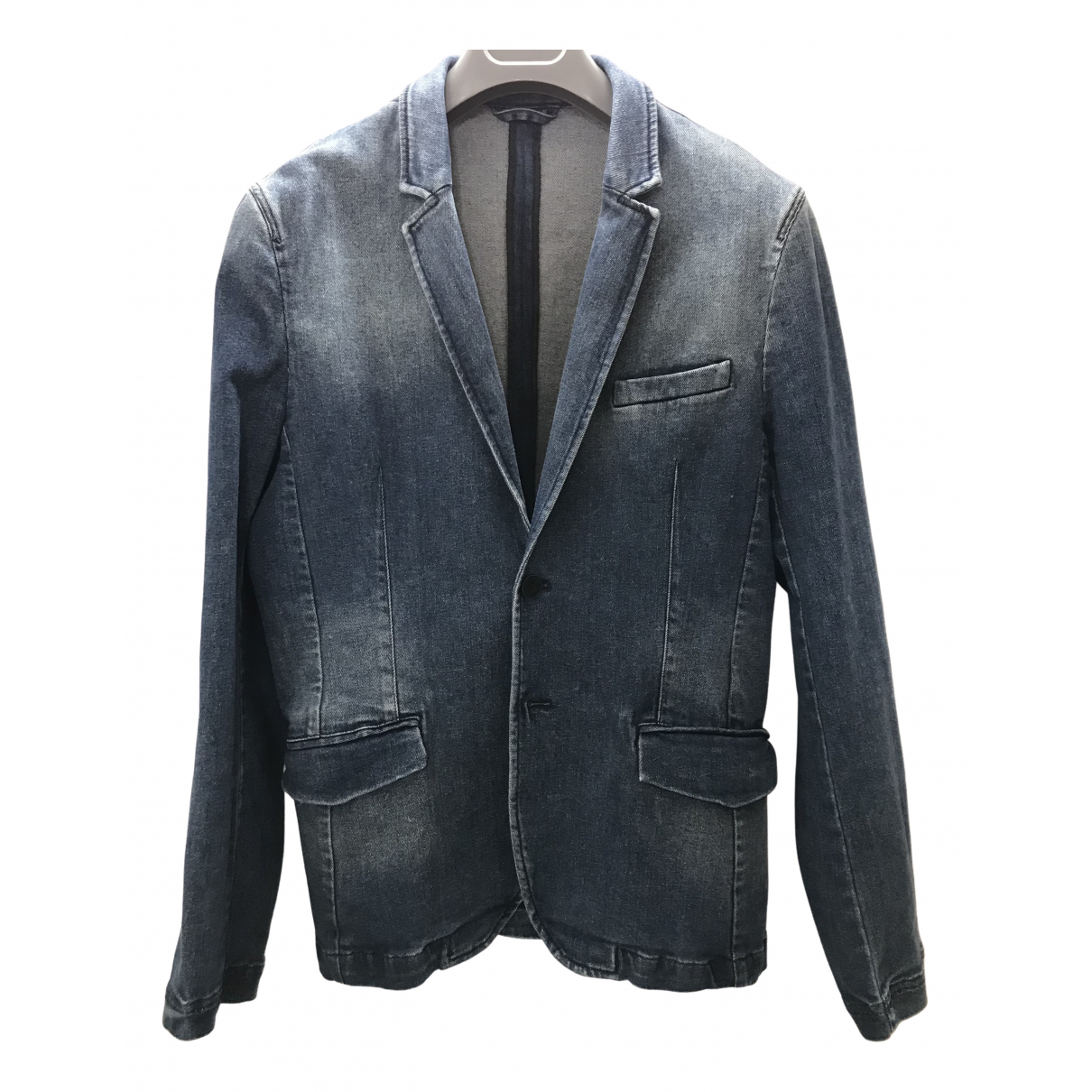 Zara \N Jacke in  Bordeauxrot Denim - Jeans