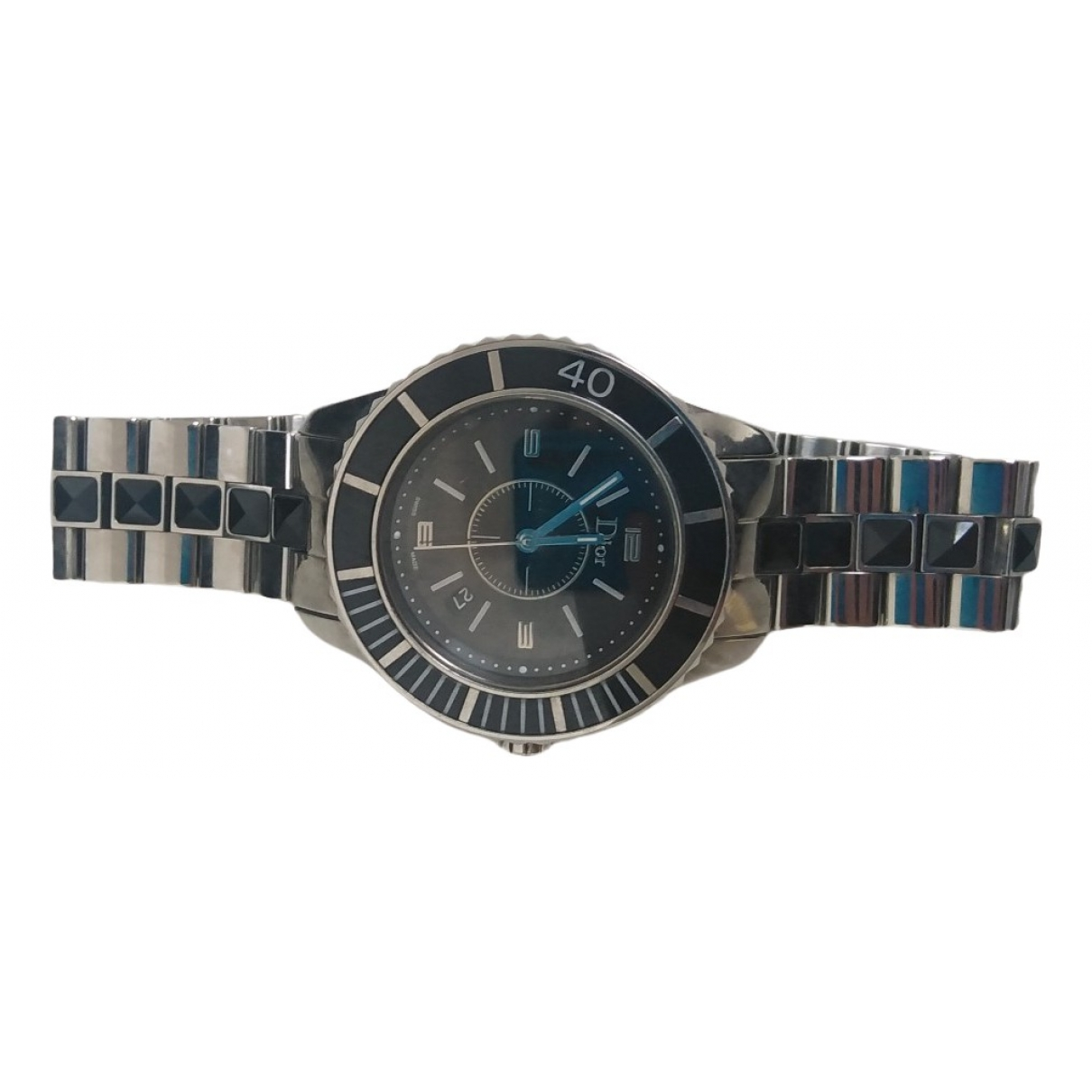 Dior Christal Silver Steel watch for Women \N
